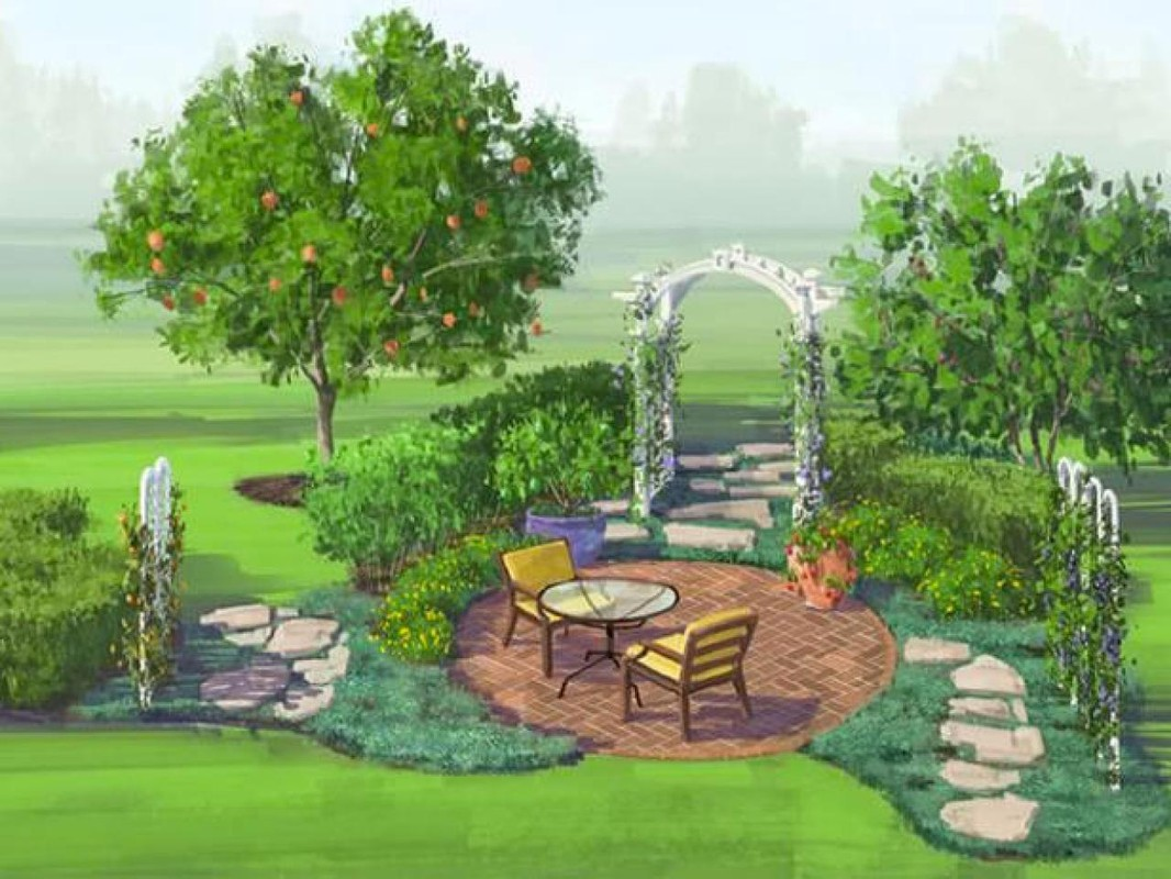 Дизайн сада и огорода рисунок